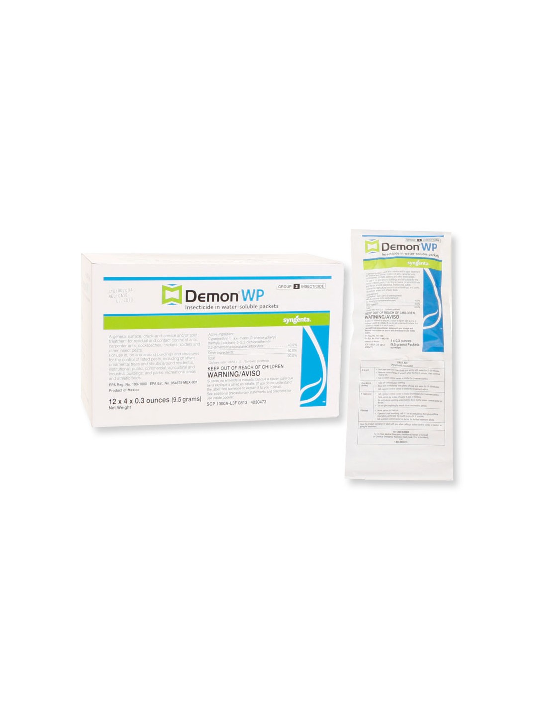 After demon wp has been applied and dried, is it harmful to pets if they eat the grass that it was sprayed on?