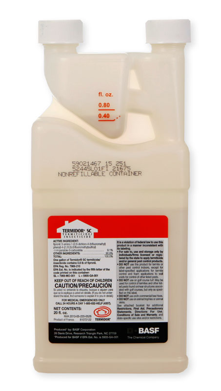 What is the best way to apply termidor for killing carpenter ants and preventing termites?