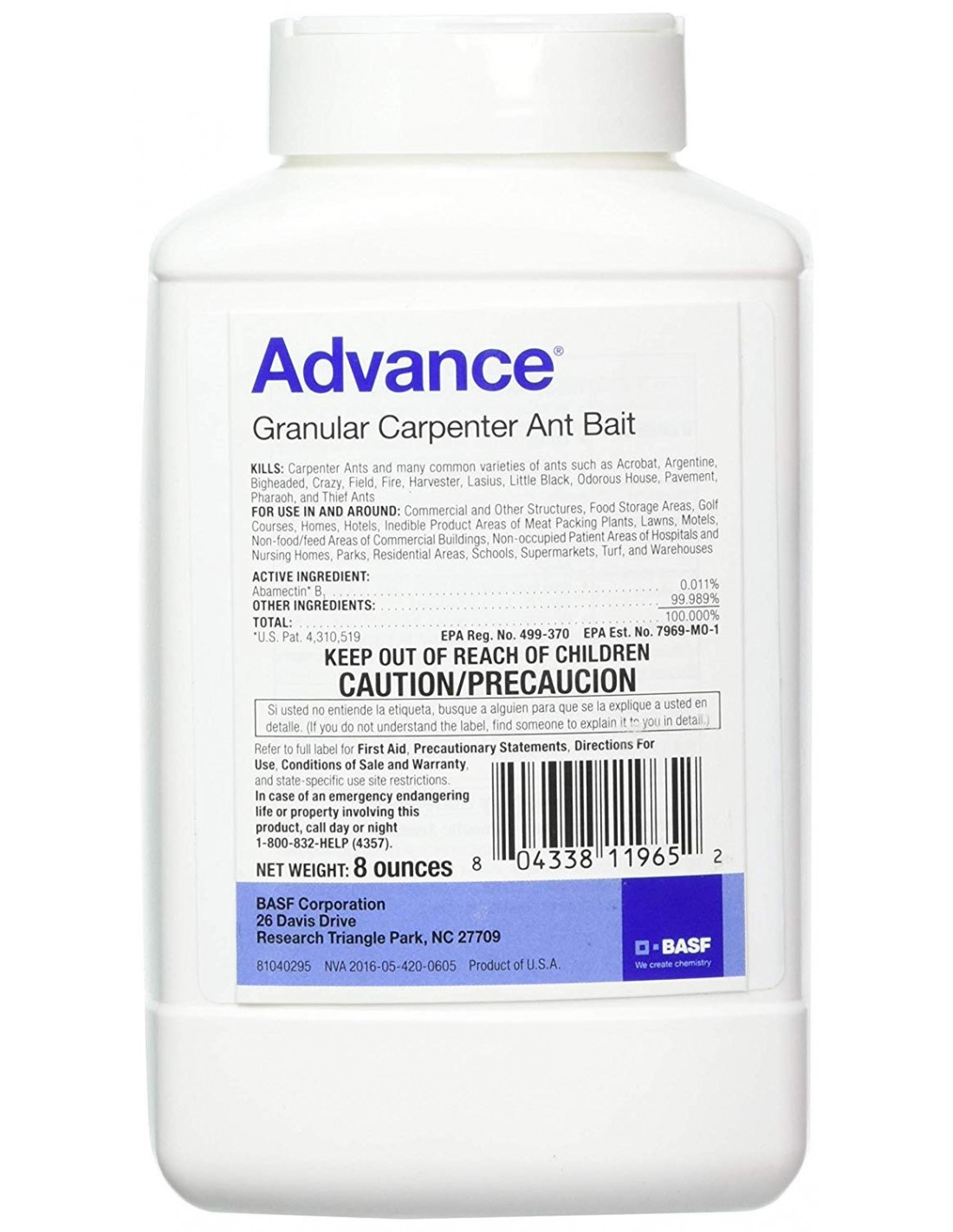 """I have a question about the product """"Advance Carpenter Ant Granular Bait"""". Is this a pet and baby safe product?"""