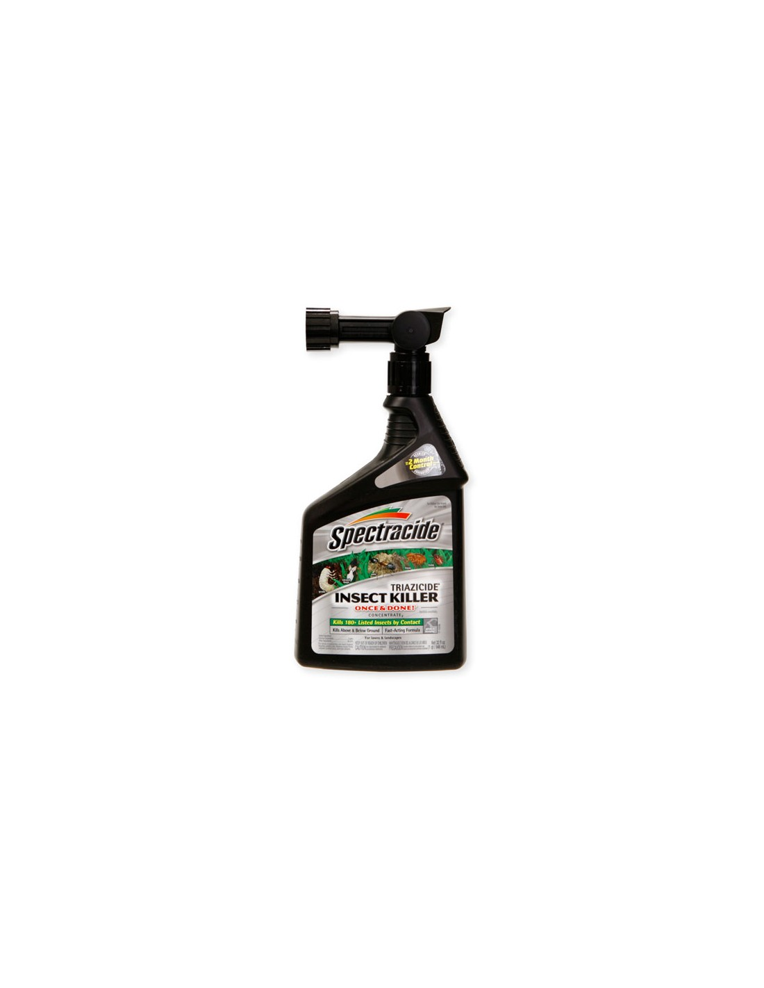Does Triazicide kill fleas and how often should I apply it to my yard?