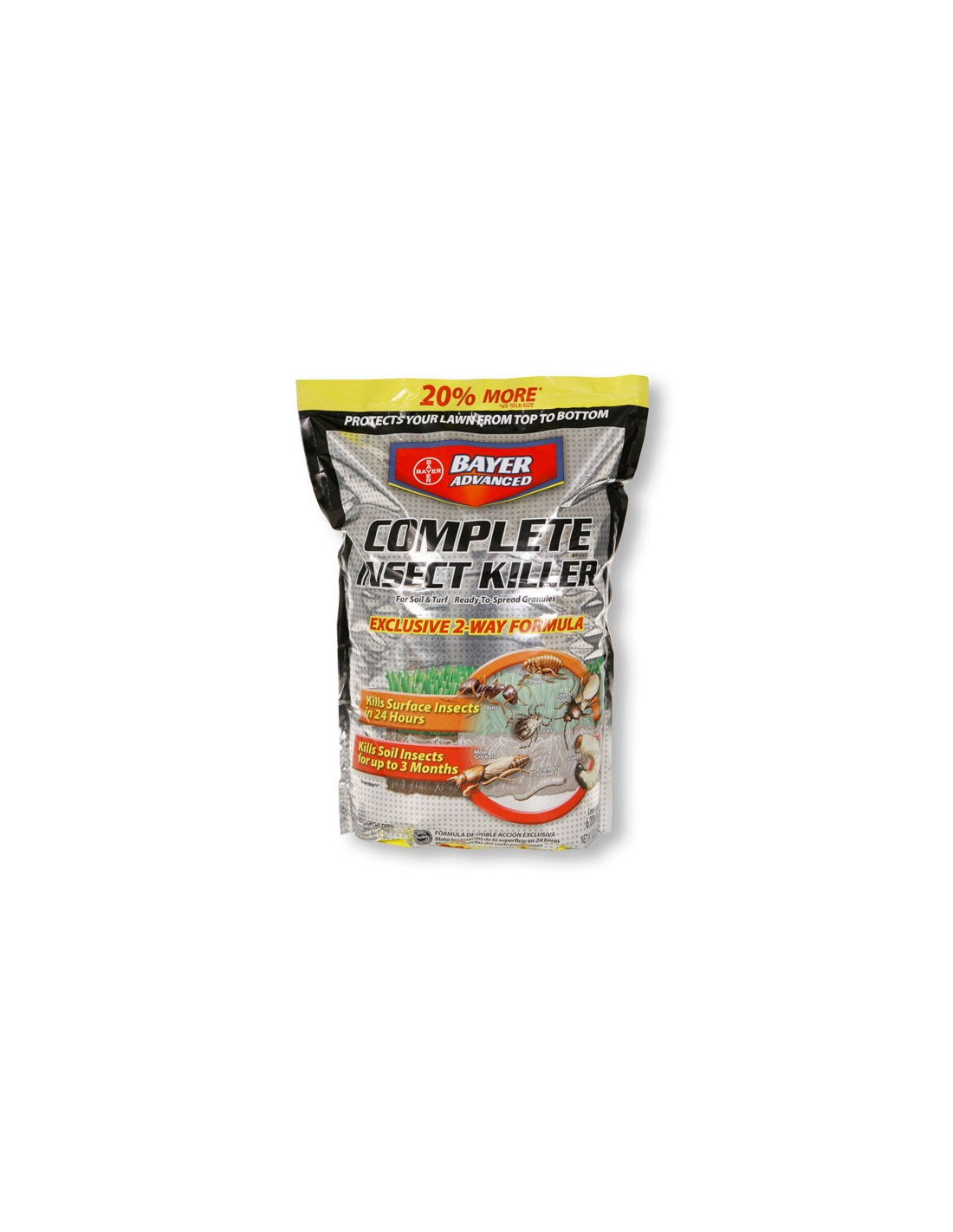 How long before my dog can enter an area treated with Bauer advance pesticide