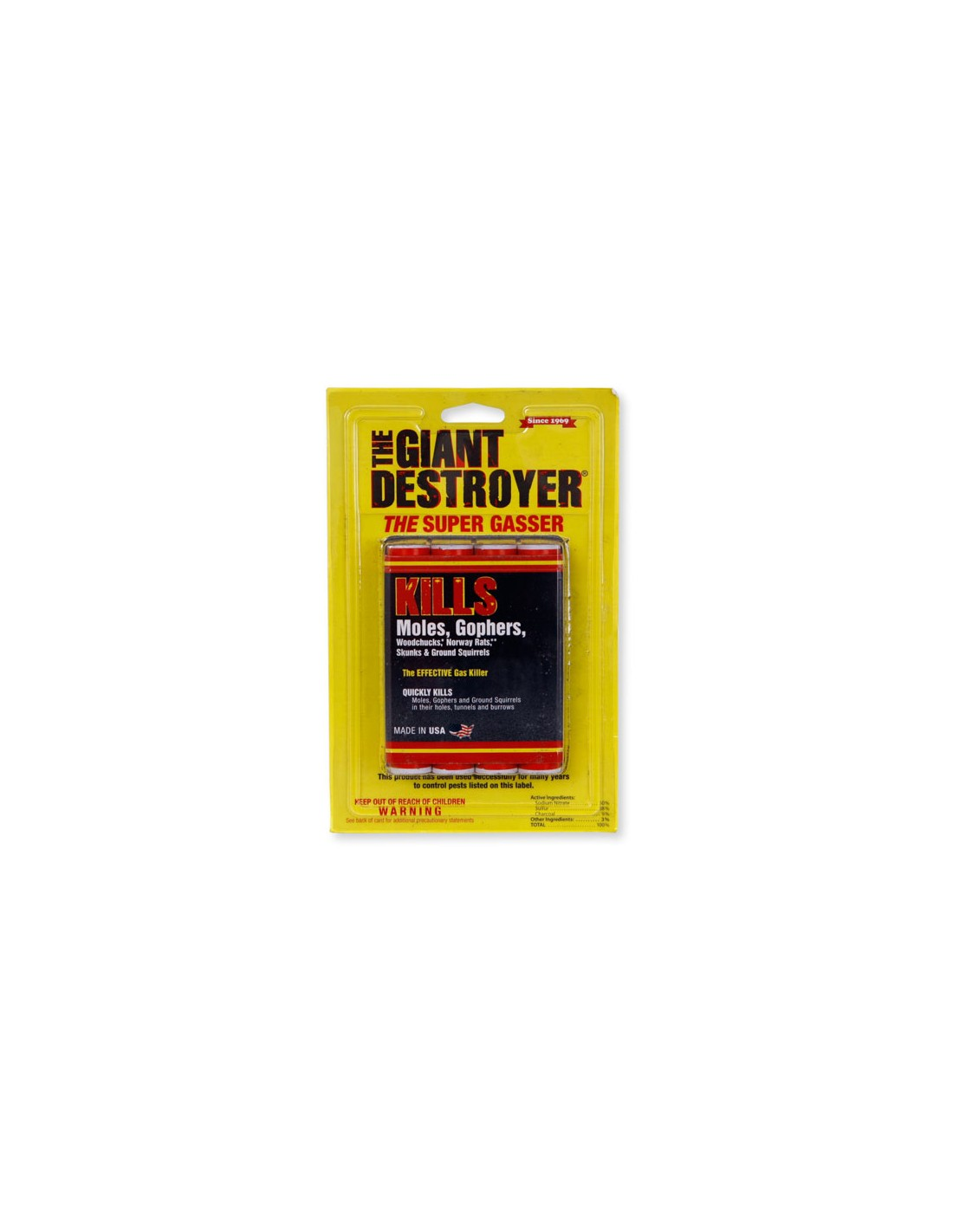 Can we use the Giant Destroyer in a skunk den under the front step of our house (against the foundation)?